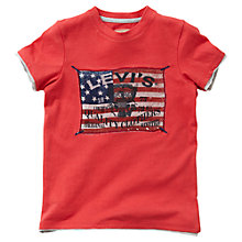 Buy Levi's Boys' Albert Short Sleeve T-Shirt, Red Online at johnlewis.com