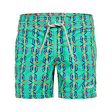 Buy Hackett London Boys' Puffin Swim Shorts, Green/Multi Online at johnlewis.com