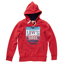Buy Levi's Boys' Edmon Hoodie, Red Online at johnlewis.com