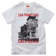 Buy Levi's Boys' Edson T-Shirt, White Online at johnlewis.com