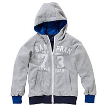 Buy Levi's Boys' Everett Reversible Hoodie, Navy/Grey Online at johnlewis.com