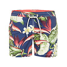 Buy Hackett London Boys' Tropical Garden Swim Shorts, Blue/Multi Online at johnlewis.com