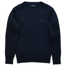 Buy Gant Boys' Cotton Knit Jumper, Navy Online at johnlewis.com