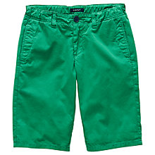 Buy Gant Boys' Roll Up Chino Shorts, Green Online at johnlewis.com