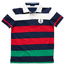 Buy Gant Boys' Barstripe Pique Polo Shirt, Multi Online at johnlewis.com