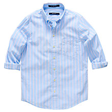 Buy Gant Boys' Poplin Striped Shirt, Blue/Pink Online at johnlewis.com