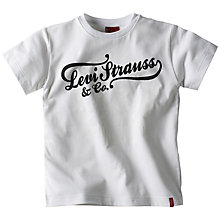 Buy Levi's Boys' Ethan Short Sleeve T-Shirt, White Online at johnlewis.com