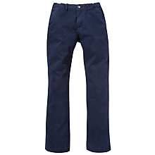 Buy Gant Boys' New Haven Chinos, Navy Online at johnlewis.com