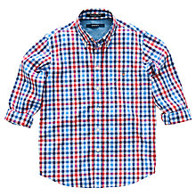 Buy Gant Boys' Checked Shirt, Red/Blue Online at johnlewis.com
