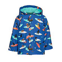 Buy Hatley Boys' Surfing Dog Print Raincoat, Blue Online at johnlewis.com