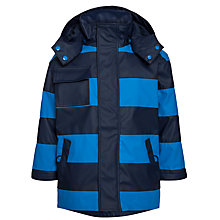 Buy Hatley Boys' Stripe Splash Raincoat, Navy/Blue Online at johnlewis.com