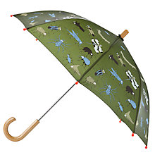 Buy Hatley Children's Bug Print Umbrella, Khaki Multi Online at johnlewis.com