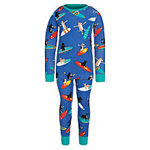 Buy Hatley Long Sleeve Surfing Dogs Pyjamas, Blue Online at johnlewis.com