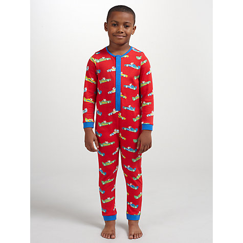Buy John Lewis Boy Dogs in Cars Onesie, Red/Multi Online at johnlewis.com