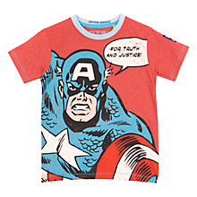 Buy Captain America T-shirt, Red Marl Online at johnlewis.com