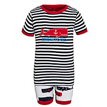 Buy Hatley Boys' Whale Print Short Pyjamas, Multi Online at johnlewis.com