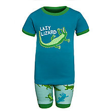 Buy Hatley Boys' Lazy Lizard Short Pyjamas, Green Online at johnlewis.com