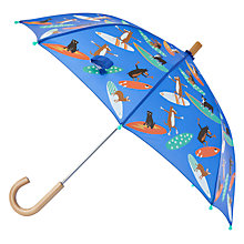 Buy Hatley Children's Surfing Dogs Umbrella, Blue Multi Online at johnlewis.com