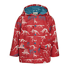 Buy Hatley Boys' Dino Bones Raincoat, Red Online at johnlewis.com