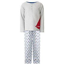 Buy John Lewis Boy Boat Print Pyjamas, Grey Online at johnlewis.com