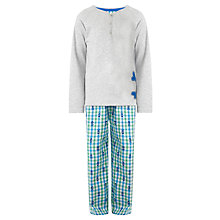 Buy John Lewis Boy Skull and Crossbones Pyjamas, Grey Online at johnlewis.com