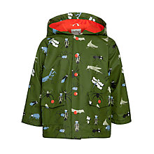 Buy Hatley Boys' Fun Bugs Raincoat, Khaki/Multi Online at johnlewis.com