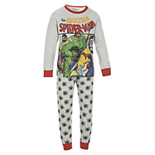 Buy Spider-Man and The Hulk Pyjamas, Grey/Multi Online at johnlewis.com