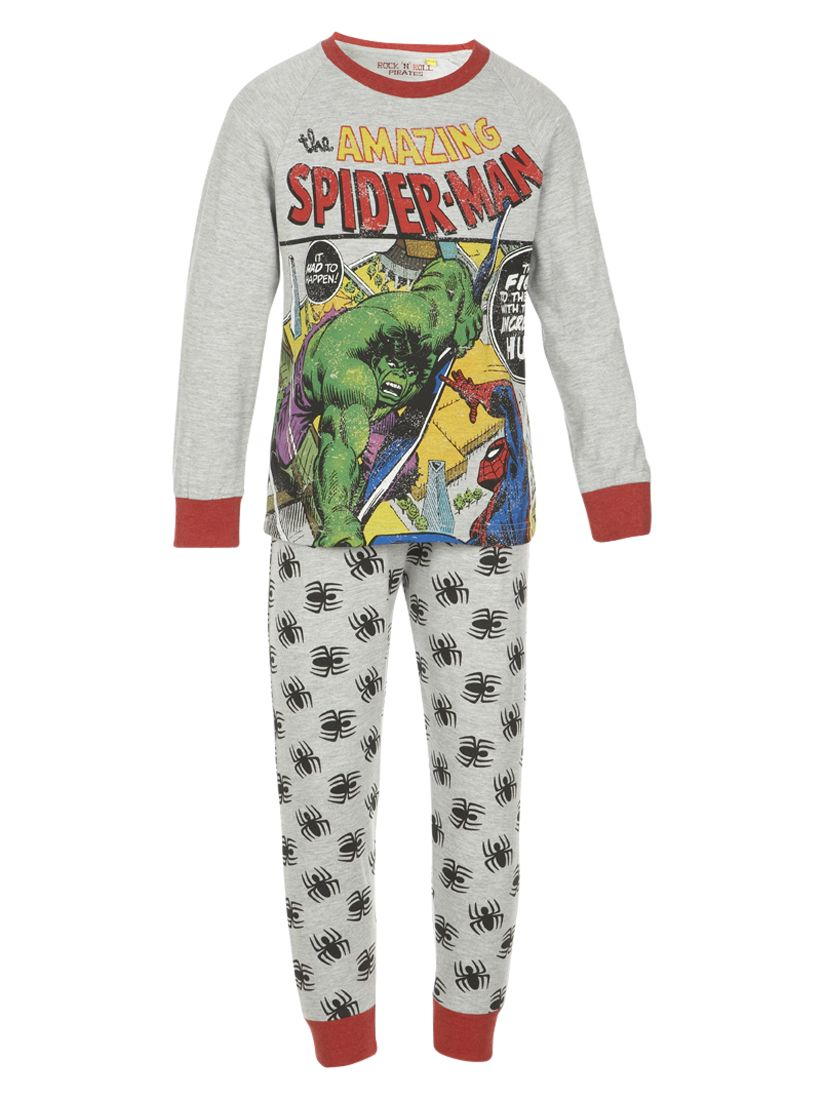 Spider-Man and The Hulk Pyjamas, Grey/Multi