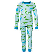 Buy Hatley Boys' Crocodile Pyjamas, Green Online at johnlewis.com