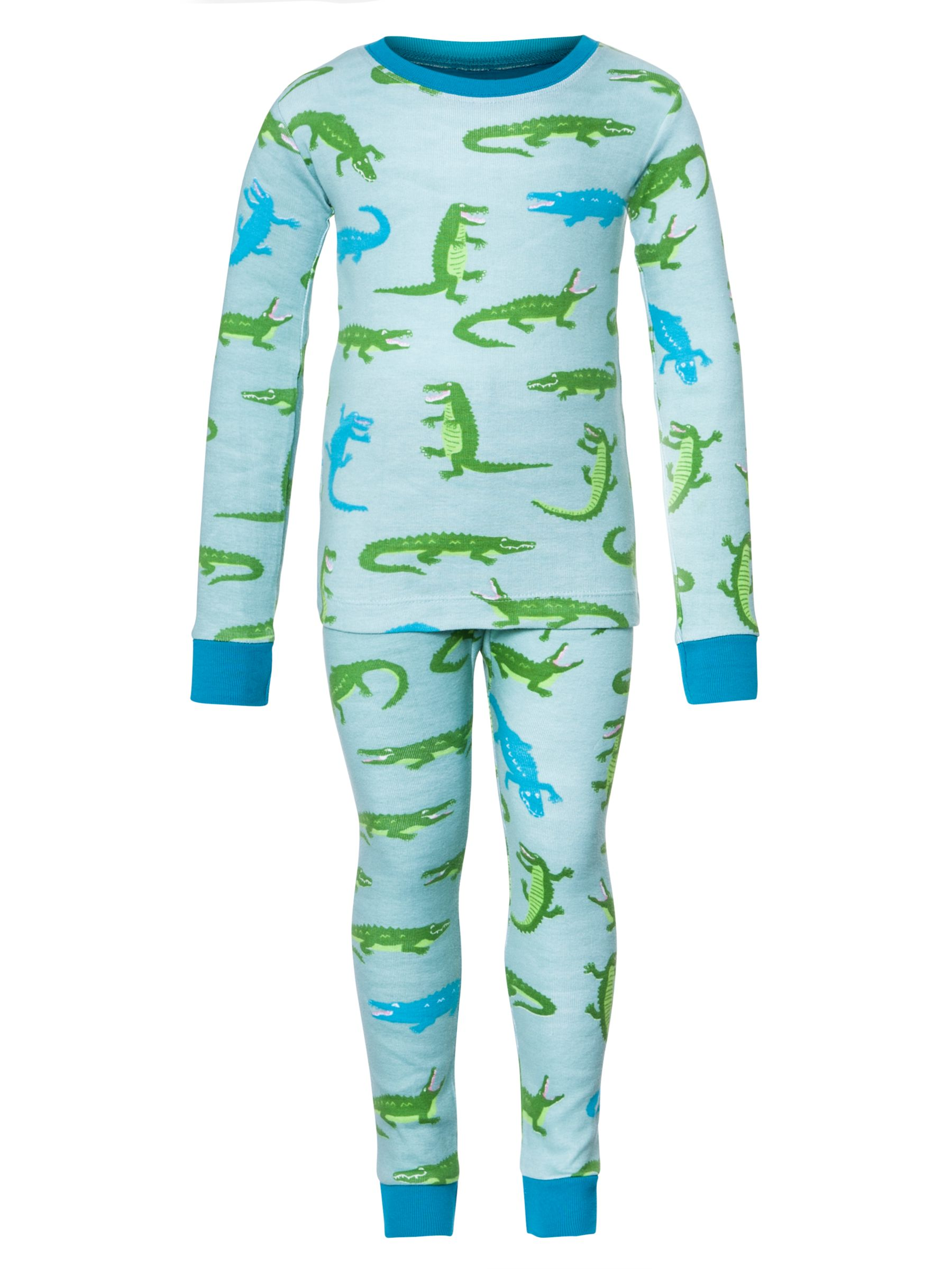 Hatley Boys' Crocodile Pyjamas, Green