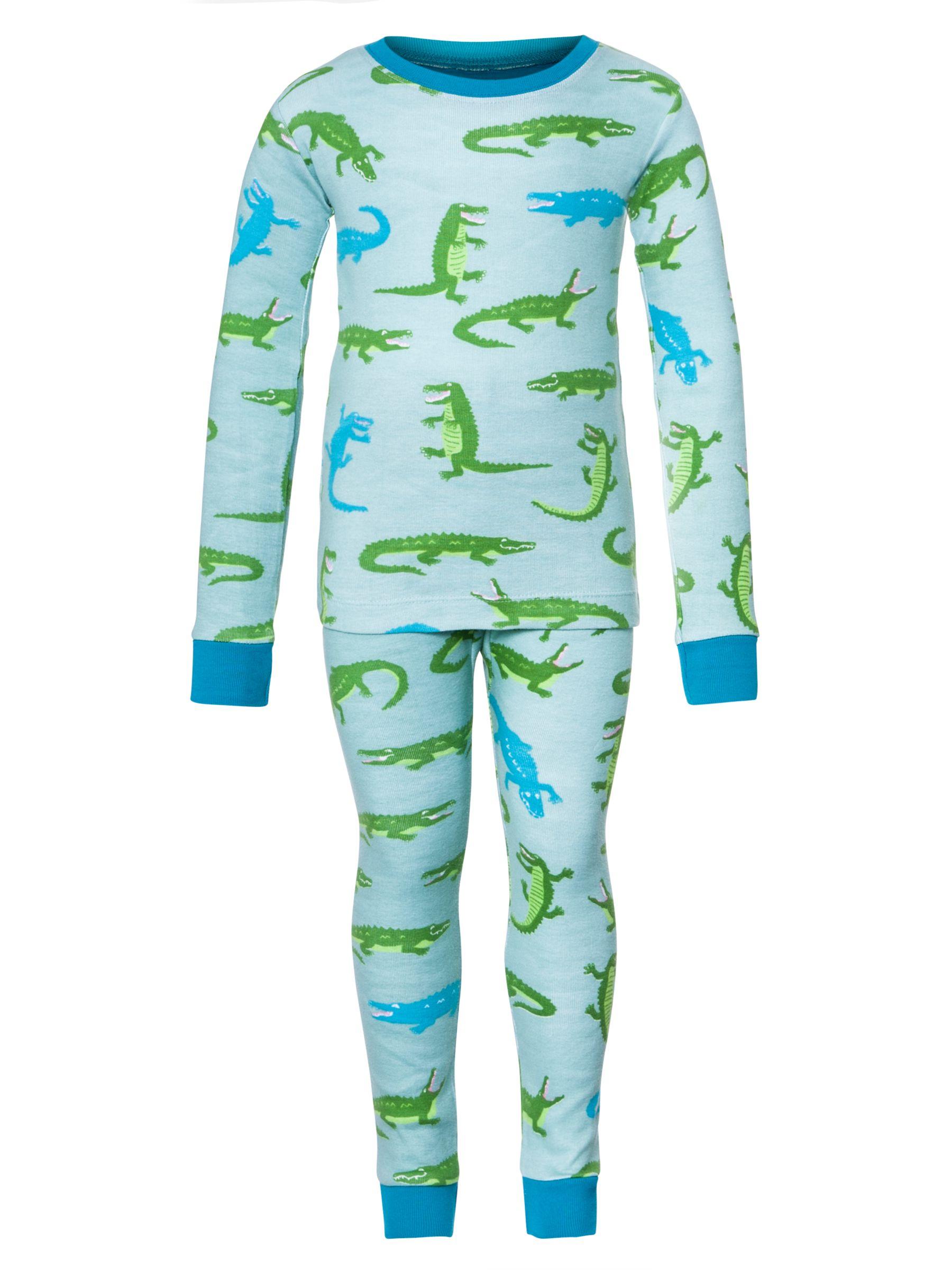 Hatley Boys' Crocodile Pyjamas, Green
