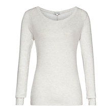 Buy Reiss Kimber Long Sleeve Top, Silver Grey Online at johnlewis.com