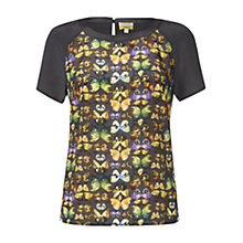 Buy Hobbs Flutter Blouse, Multi Online at johnlewis.com