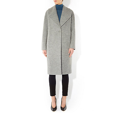 Buy Hobbs Daisey Coat, Grey Online at johnlewis.com