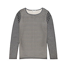 Buy Reiss Betz Stripe Top, Grey Online at johnlewis.com