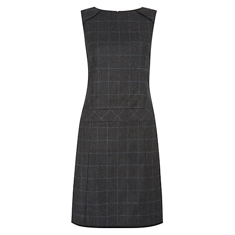 Buy Hobbs Beatrice Dress, Charcoal Online at johnlewis.com