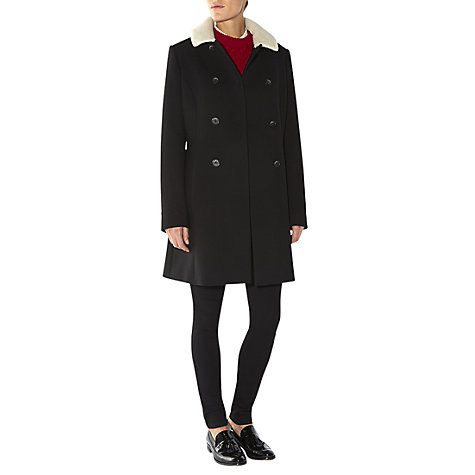 Buy NW3 by Hobbs Fountaine Coat, Black Online at johnlewis.com