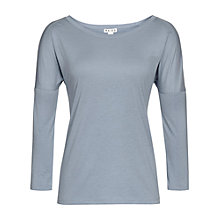 Buy Reiss Kit Drop Sleeve Top, Dusty Blue Online at johnlewis.com