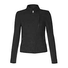 Buy Hobbs Florence Biker Jacket, Grey Melange Online at johnlewis.com