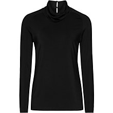 Buy Reiss Scarlet Roll Neck, Black Online at johnlewis.com