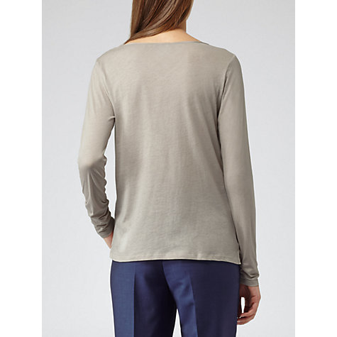 Buy Reiss Vicka Top, Ice Grey Online at johnlewis.com