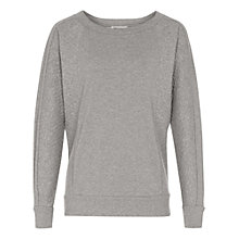 Buy Reiss Pisces Quilted Jumper, Grey Online at johnlewis.com