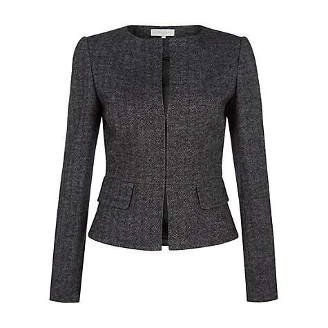 Buy Hobbs Cheam Jacket, Black/Grey Online at johnlewis.com