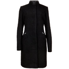 Buy Ted Baker Alimra Trim Coat, Black Online at johnlewis.com