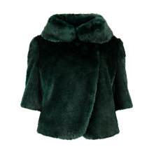 Buy Ted Baker Bionca Faux-Fur Jacket, Dark Green Online at johnlewis.com