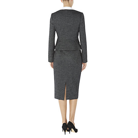 Buy Hobbs Cheam Skirt, Black/Grey Online at johnlewis.com