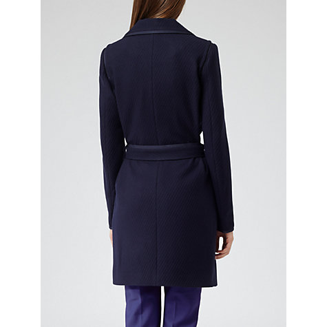 Buy Reiss Lavina Textured Coat, Navy Online at johnlewis.com