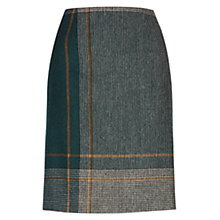 Buy Hobbs Pipher Skirt,Teal Online at johnlewis.com