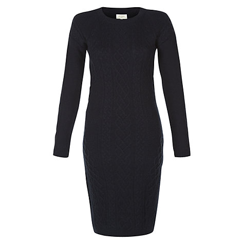 Buy Hobbs Paolina Dress, Navy Online at johnlewis.com