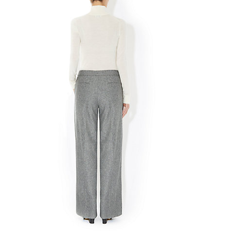 Buy Hobbs Webber Trousers, Black/Ivory Online at johnlewis.com